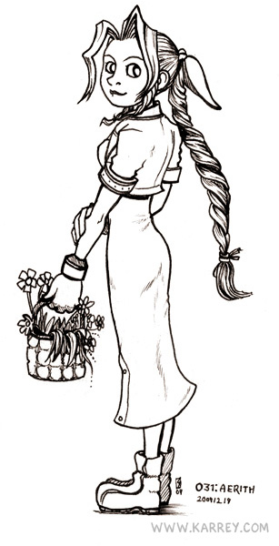 Aeris Gainsborough from Final Fantasy VII