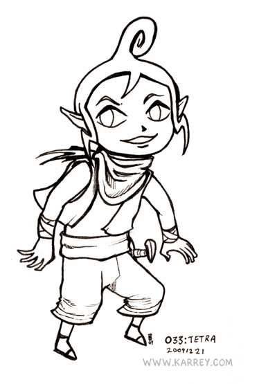 Tetra from Zelda Wind Waker