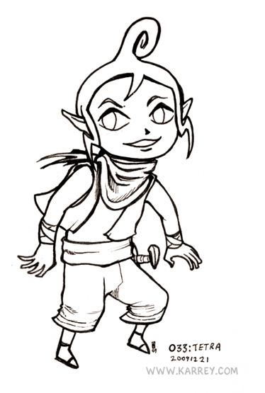 Tetra from Zelda Wind Waker