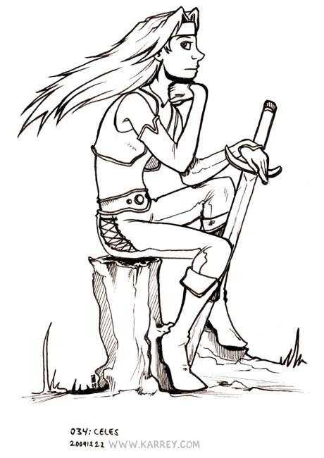 Celes from Final Fantasy VI