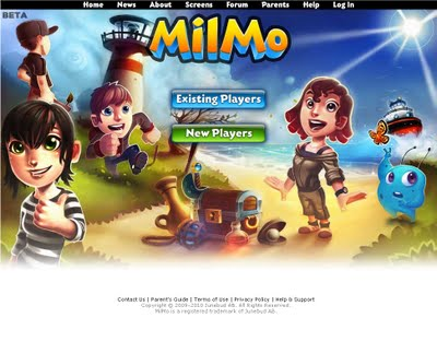 MilMo splash screen 2009