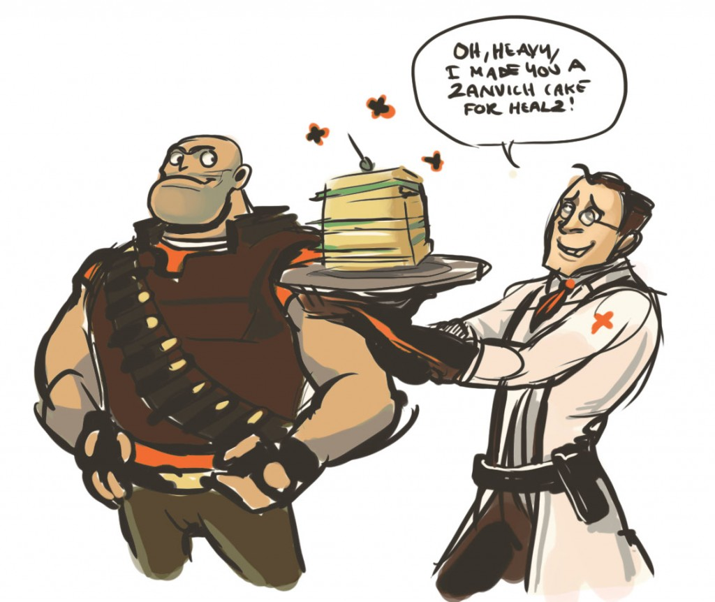 oh heavy, I made you sandvich cake for healz