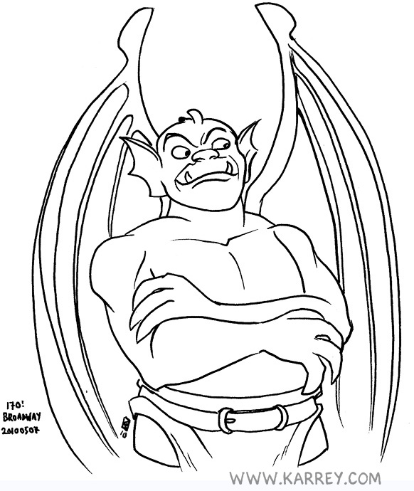 printable coloring pages of gargoyles - photo#11