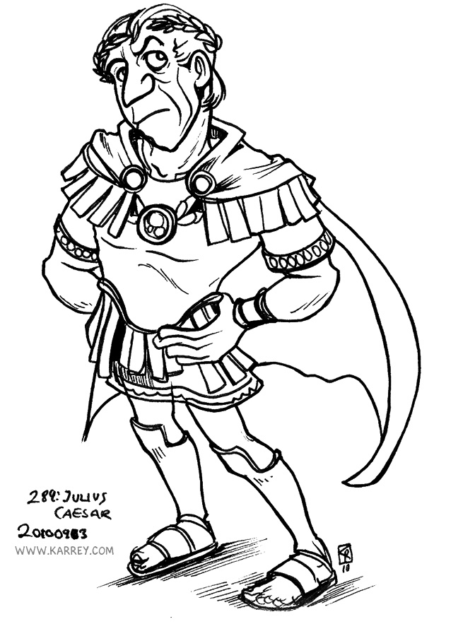 Julius Caesar from Asterix