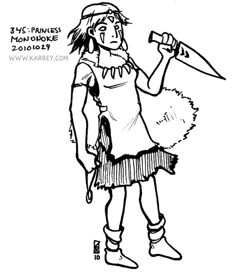 Princess Mononoke from Mononoke Hime